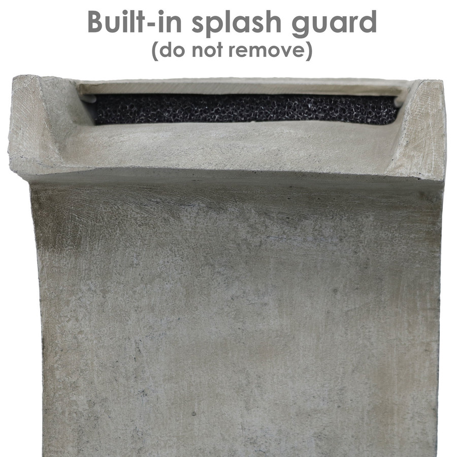 Detailed View of Splash Guard
