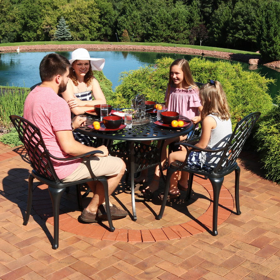 5-Piece Cast Aluminum Patio Furniture Set