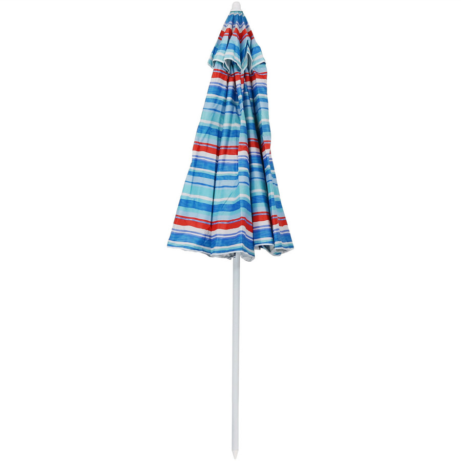 Pacific Stripe Beach Umbrella Closed