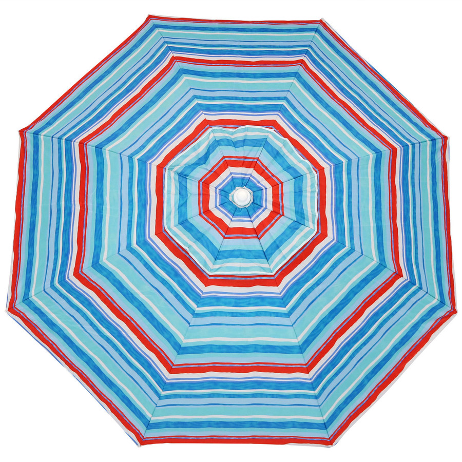 Pacific Stripe Beach Umbrella Top View
