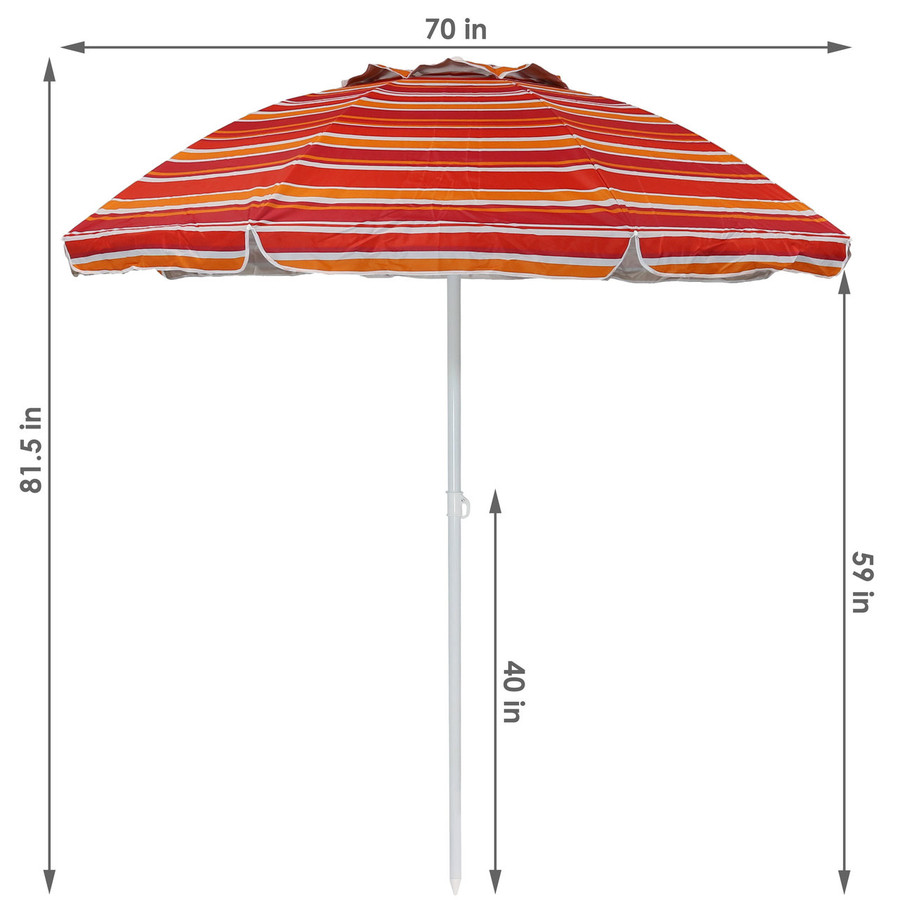 Dimensions for the Malibu Dream Beach Umbrella