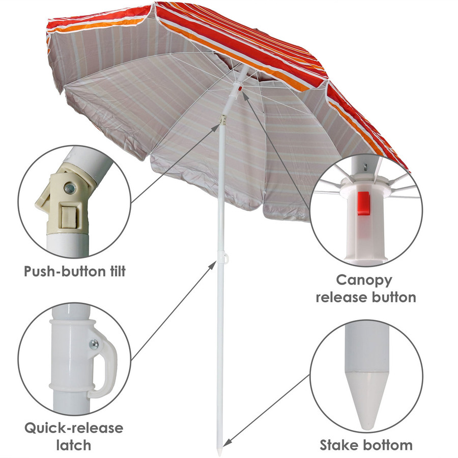 Features of the Malibu Dream Beach Umbrella