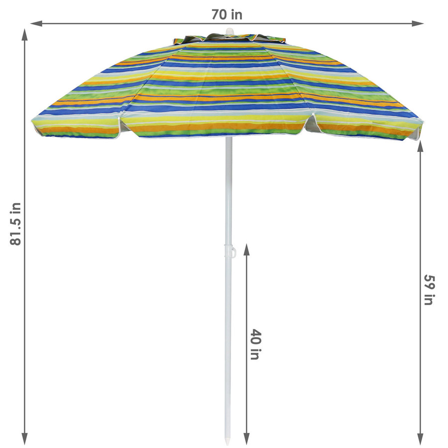 Dimensions of the Tropical Fusion Beach Umbrella