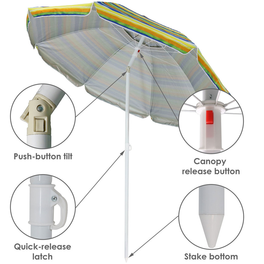 Features of the Tropical Fusion Beach Umbrella