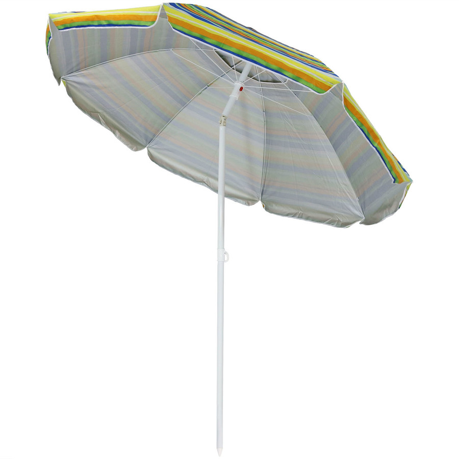 Tropical Fusion Beach Umbrella Tilted