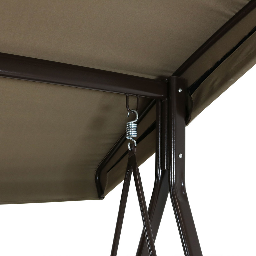 Closeup of Beige Canopy with Frame