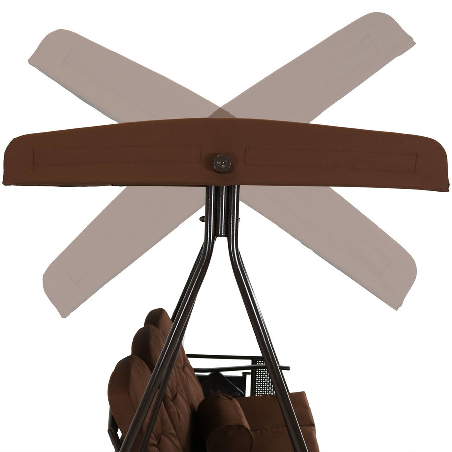 Showing Adjustable Angles of Brown Canopy