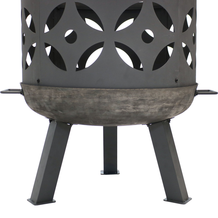 Bottom View of Retro Fireplace Cast Iron Outdoor Fire Pit
