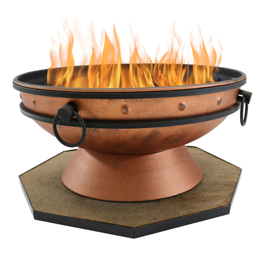 "30"" DeckProtect Shown with Sunnydaze Royal Cauldron Fire Pit (Fire Pit Sold Separately)"