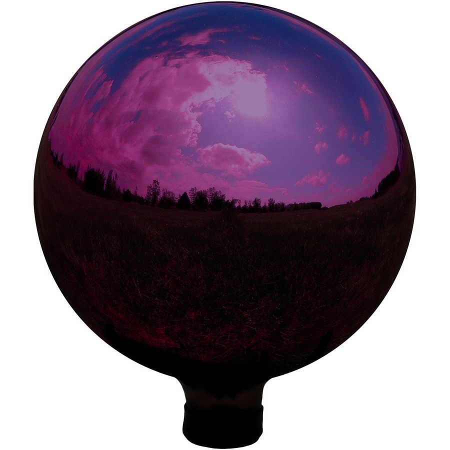 Sunnydaze Merlot Mirrored Surface Gazing Ball Globe, 10-Inch
