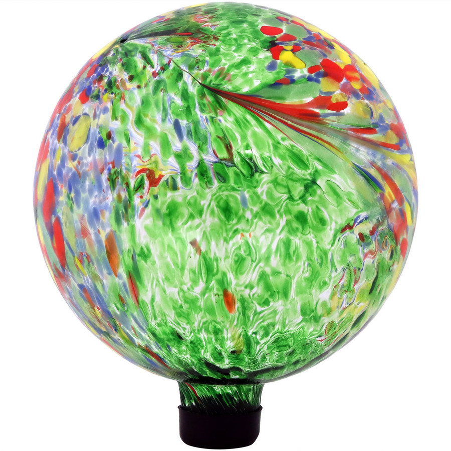 View of the Green Artistic Glass Gazing Ball Globe