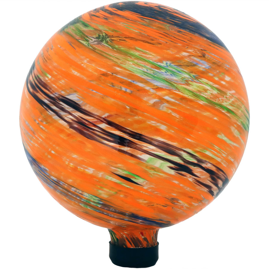 View of the Sunset Sky Glass Outdoor Gazing Ball Globe
