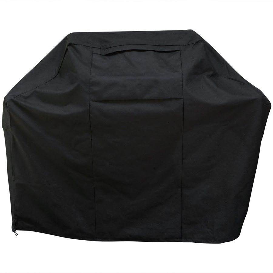 Sunnydaze Heavy-Duty BBQ Grill Cover, 300D Fade-Resistant Waterproof Black Polyester, Size Options Available
