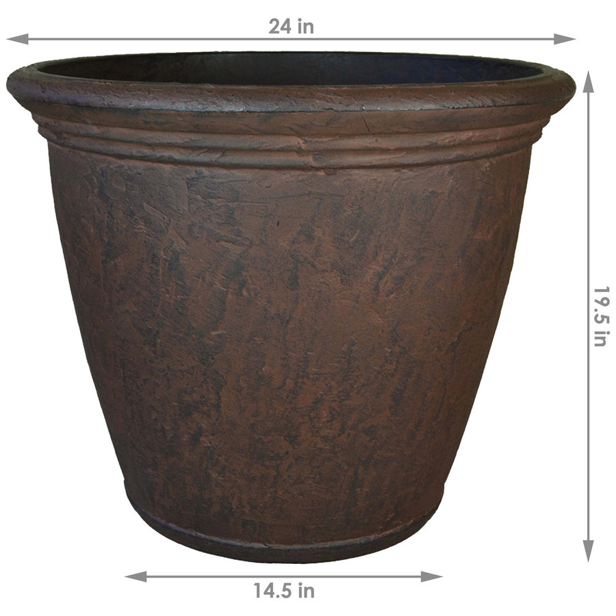 Dimensions of Anjelica 24-Inch Diameter Planter