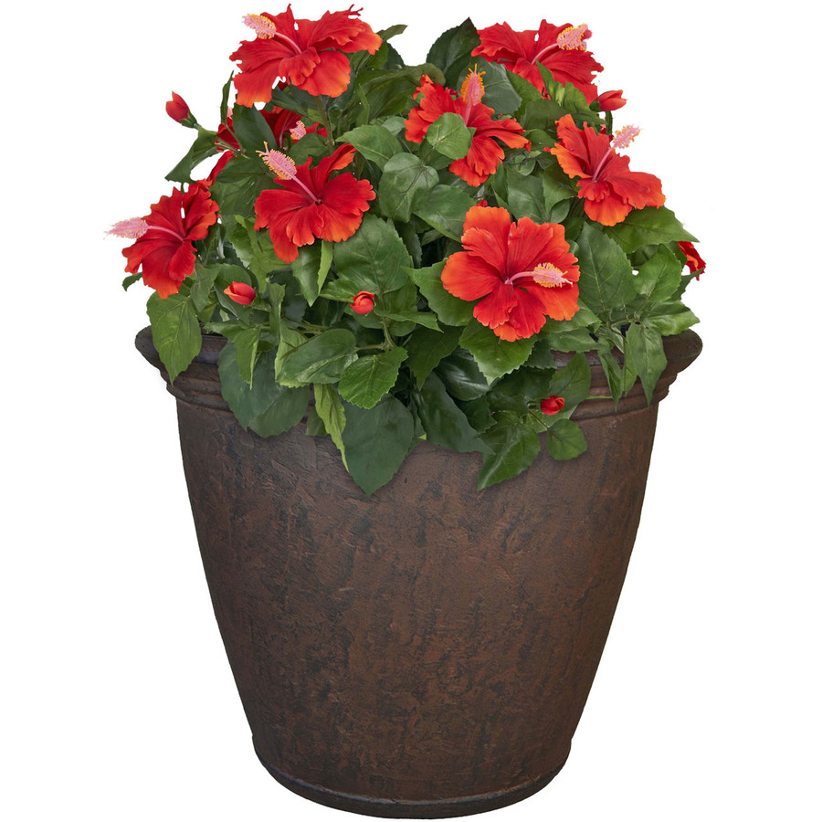 Anjelica 24-Inch Diameter Planter with Rust Finish, Single
