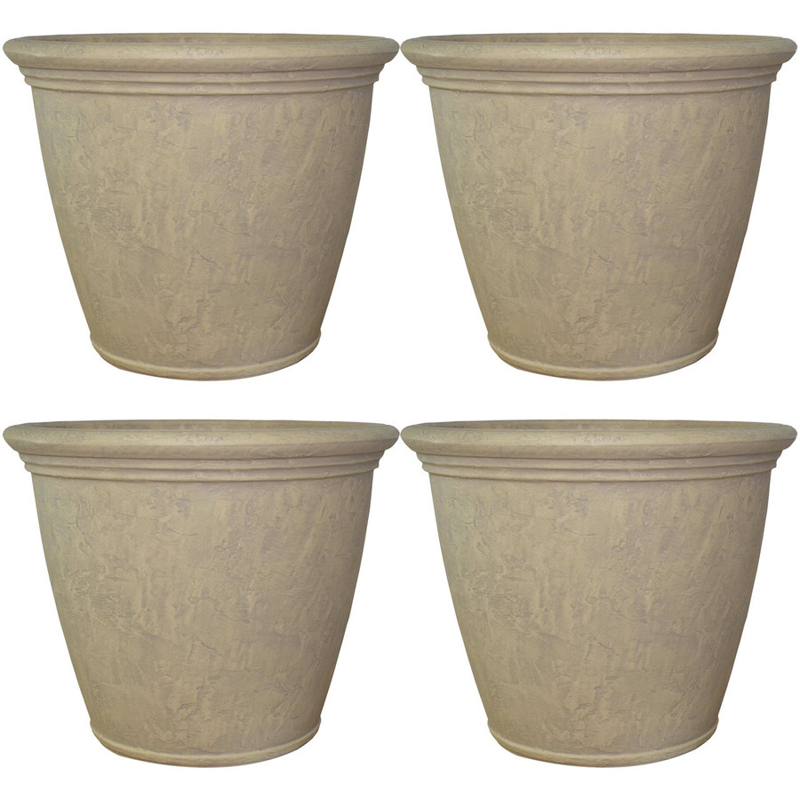 Anjelica Pebble Gray Indoor/Outdoor Planter, Set of 4