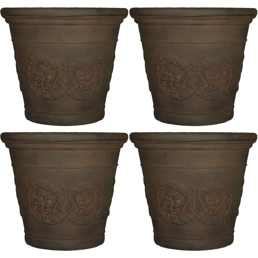 Arabella Sable Indoor/Outdoor Planter, Set of 4