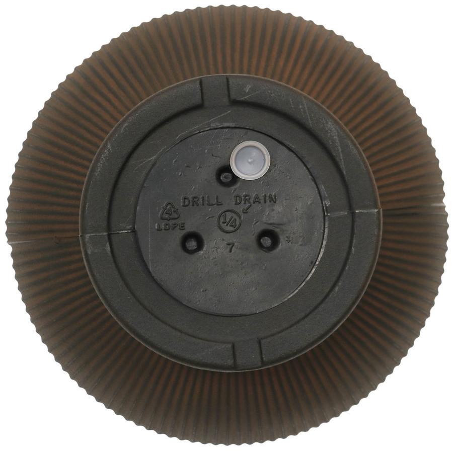 Bottom View of Elizabeth 16-Inch Diameter Rust Finish Planter
