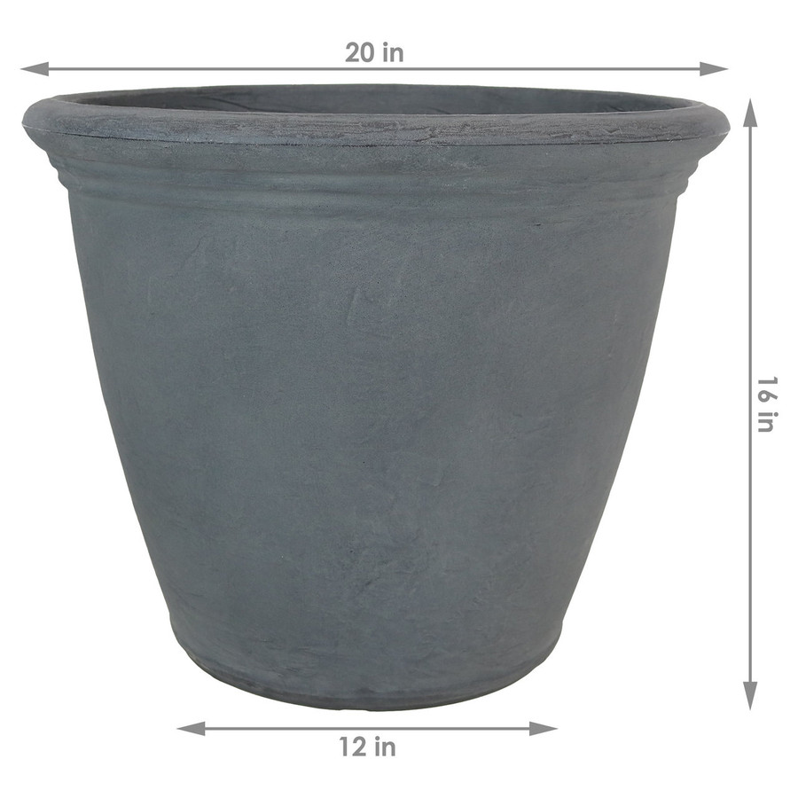 Dimensions of the Anjelica Slate Planter