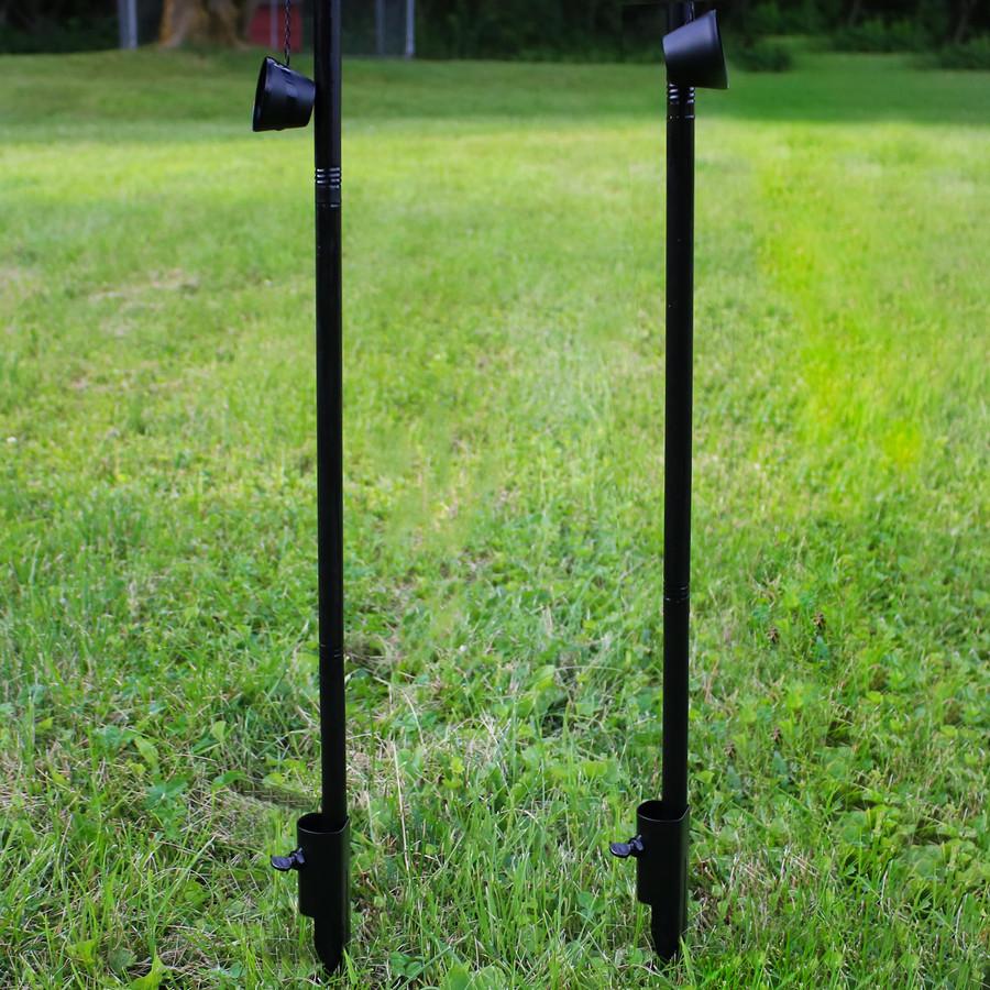 Sunnydaze Tiki Face Outdoor Lawn Patio Torch, Set of 2