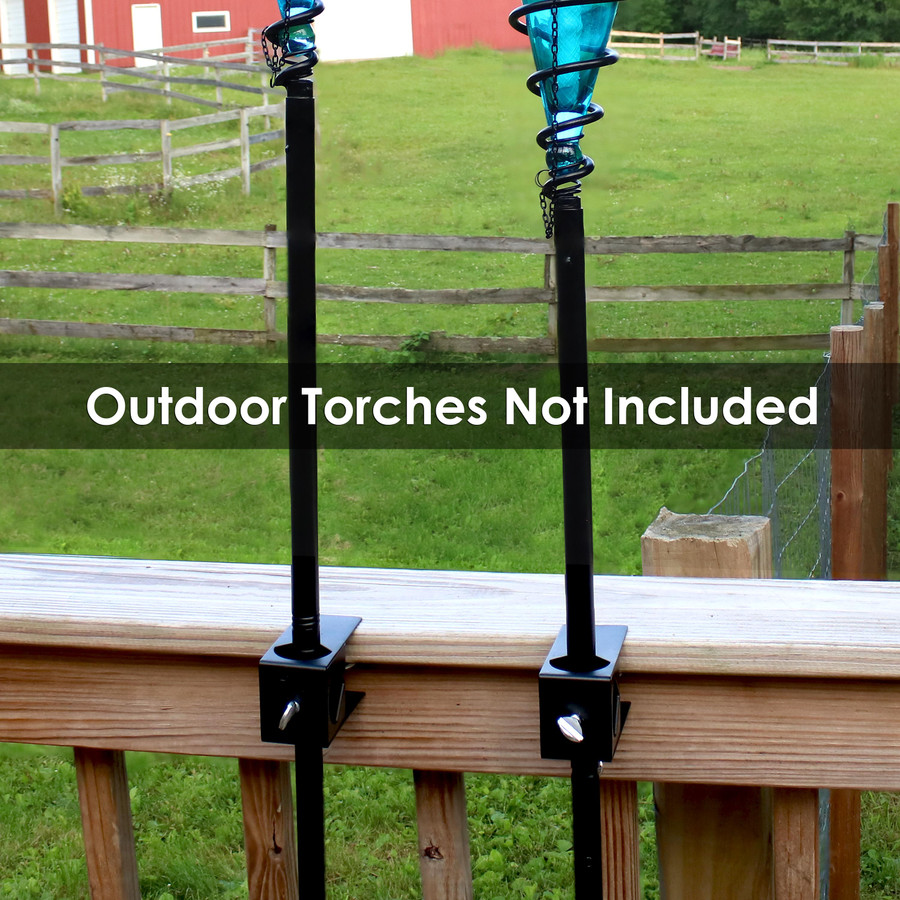 Deck Clamps with Adjustable Hardware (Outdoor Torches NOT Included)