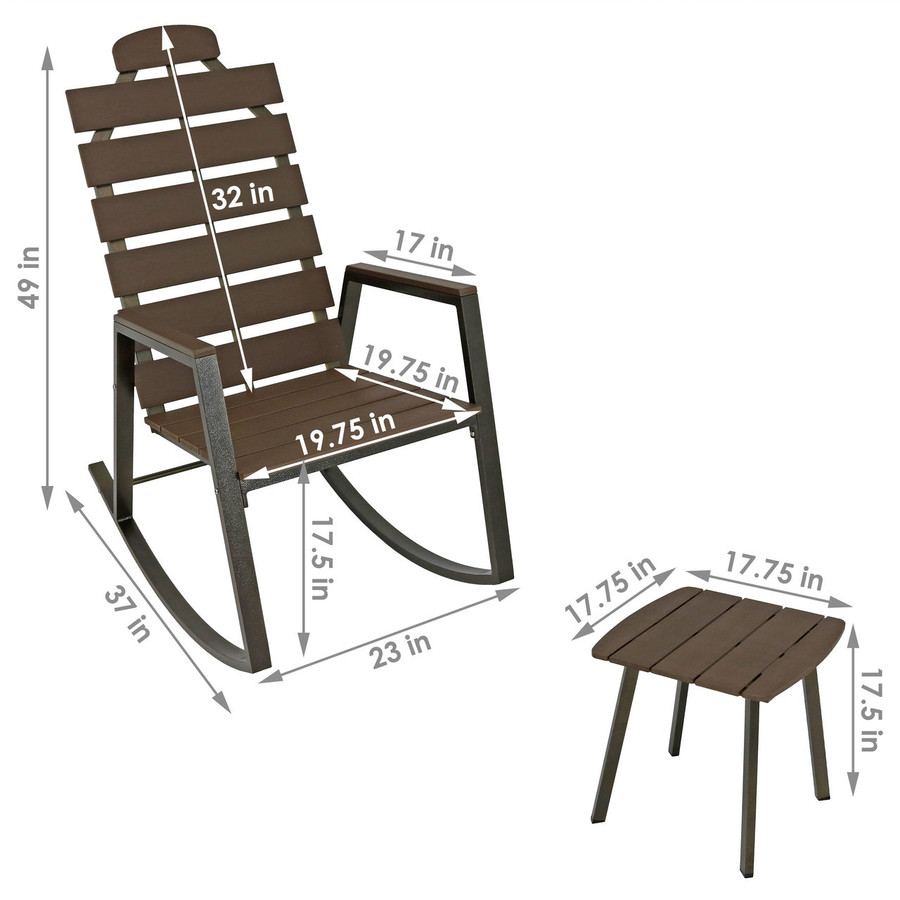Dimensions of Chair and Table in Set
