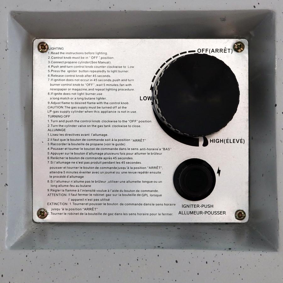 Closeup of Control Panel