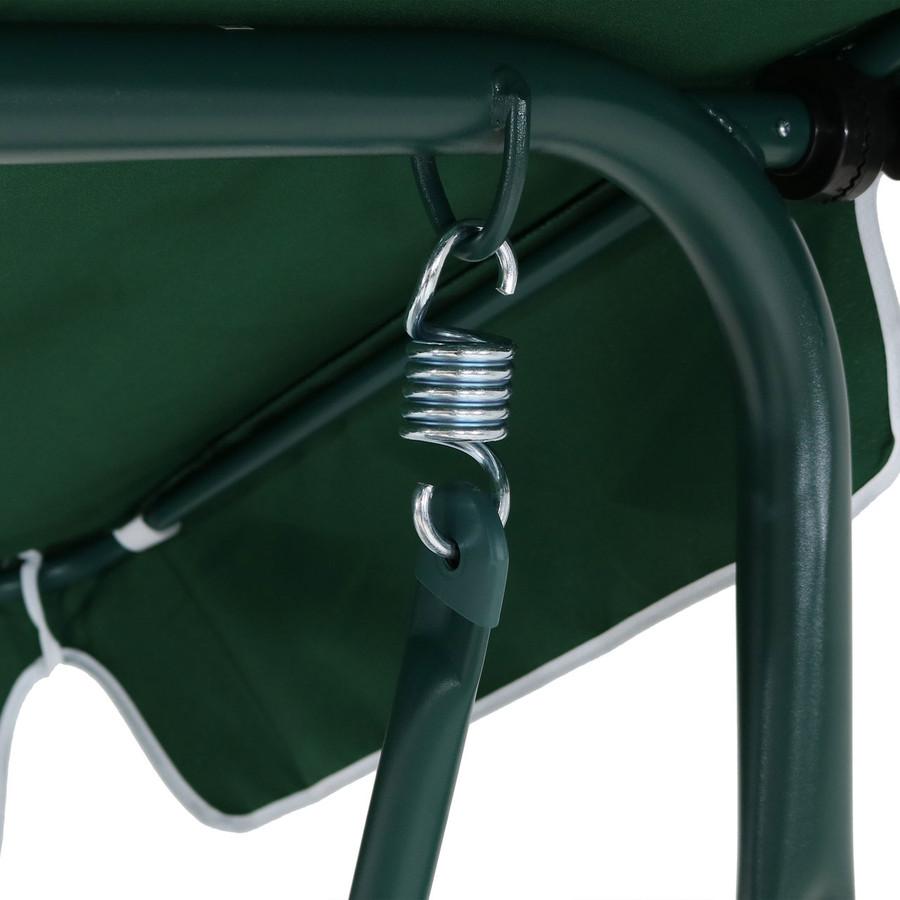 Closeup of Canopy Patio Swing Frame, Green