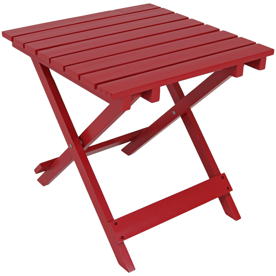 Wooden Multi-Use Folding Side Table, Red