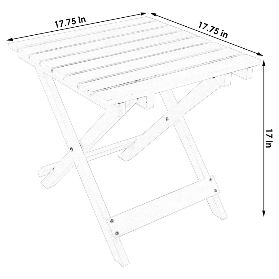 Dimensions of Wooden Multi-Use Folding Side Table