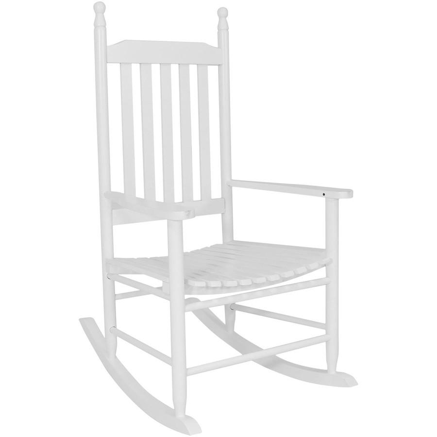 Wooden Rocking Chair, White