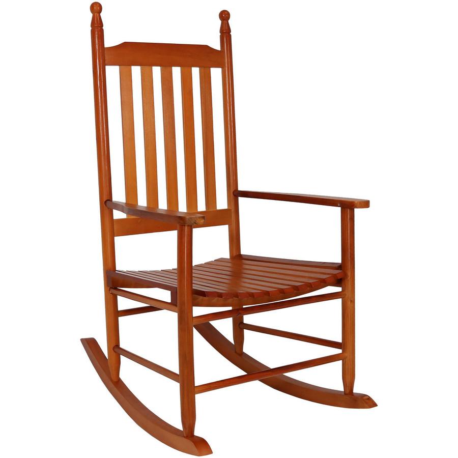 Wooden Rocking Chair, Brown