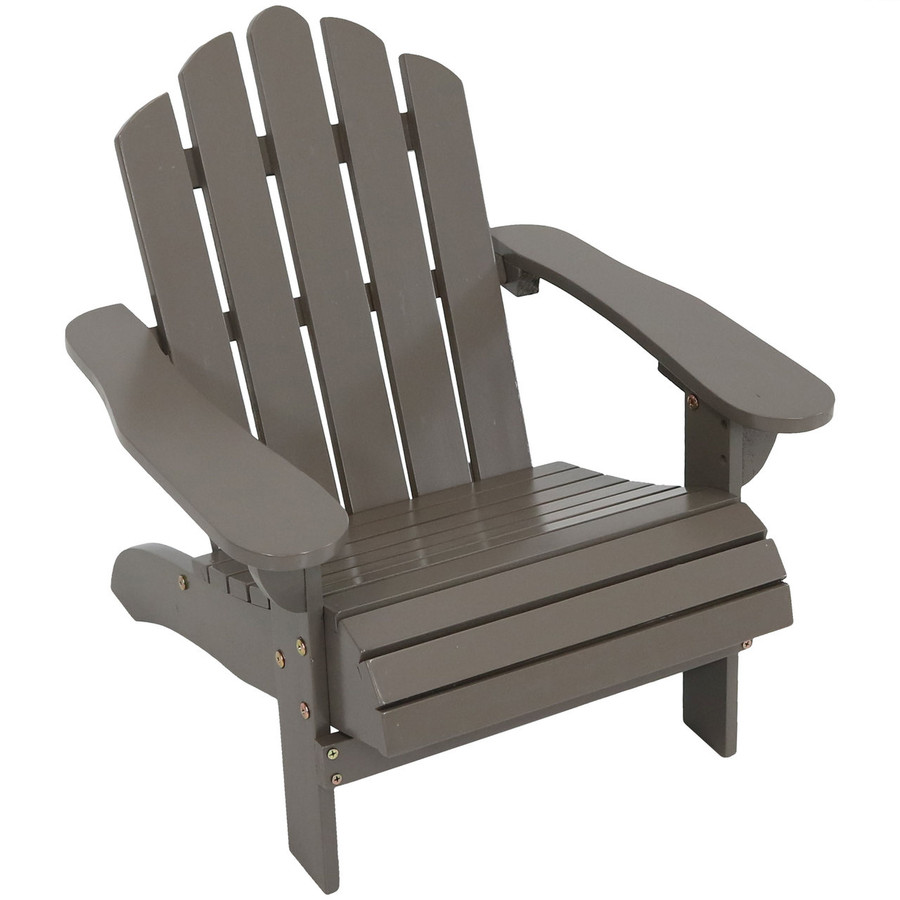Child-Size Classic Wooden Adirondack Chair, Gray