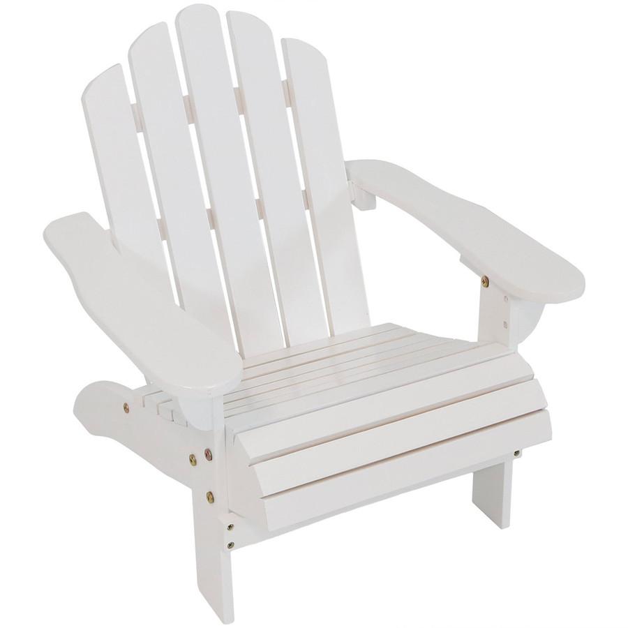 Child-Size Classic Wooden Adirondack Chair, White