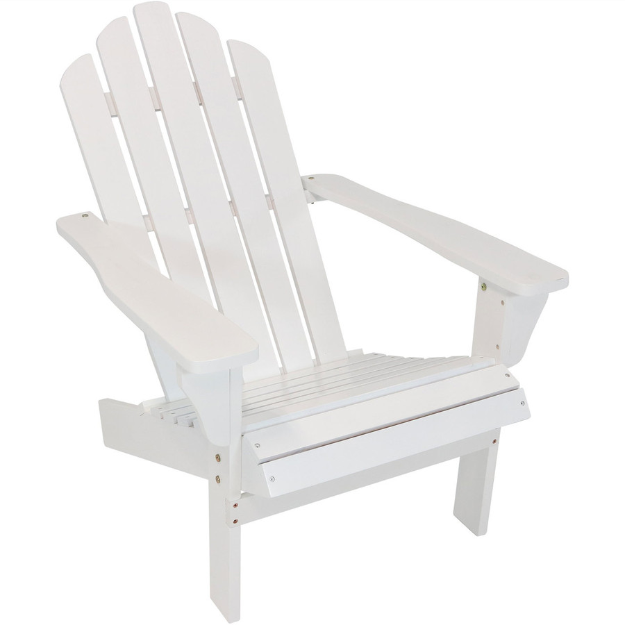 Wood Outdoor Adirondack Chair, White