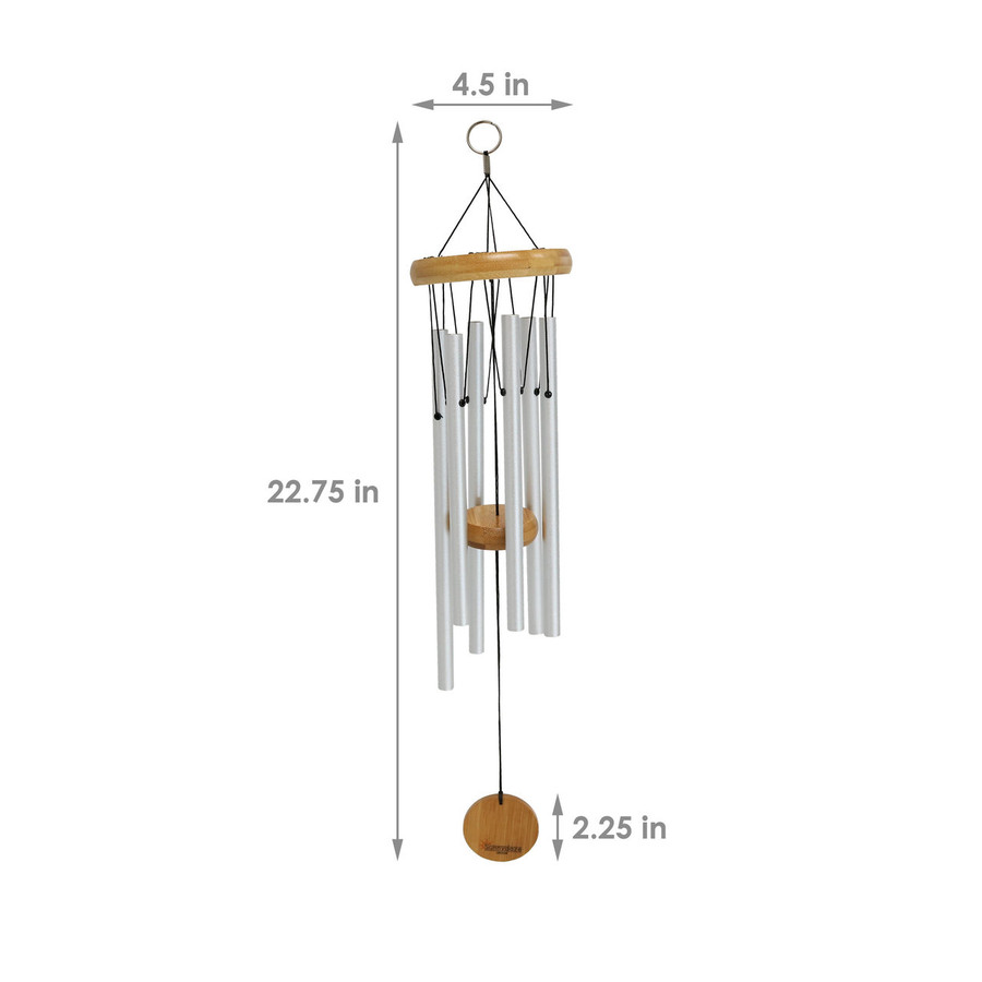 Dimensions of the 22-Inch Bamboo Aluminum Wind Chimes