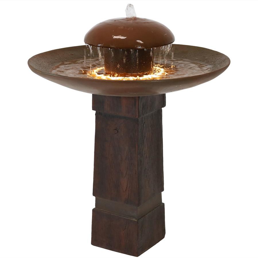 Domed Shower Outdoor Bird Bath Water Fountain