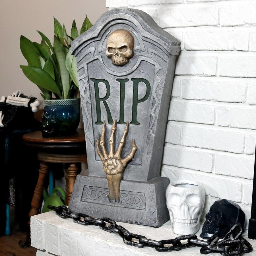 RIP Graveyard Tombstone Halloween Decoration, Indoors