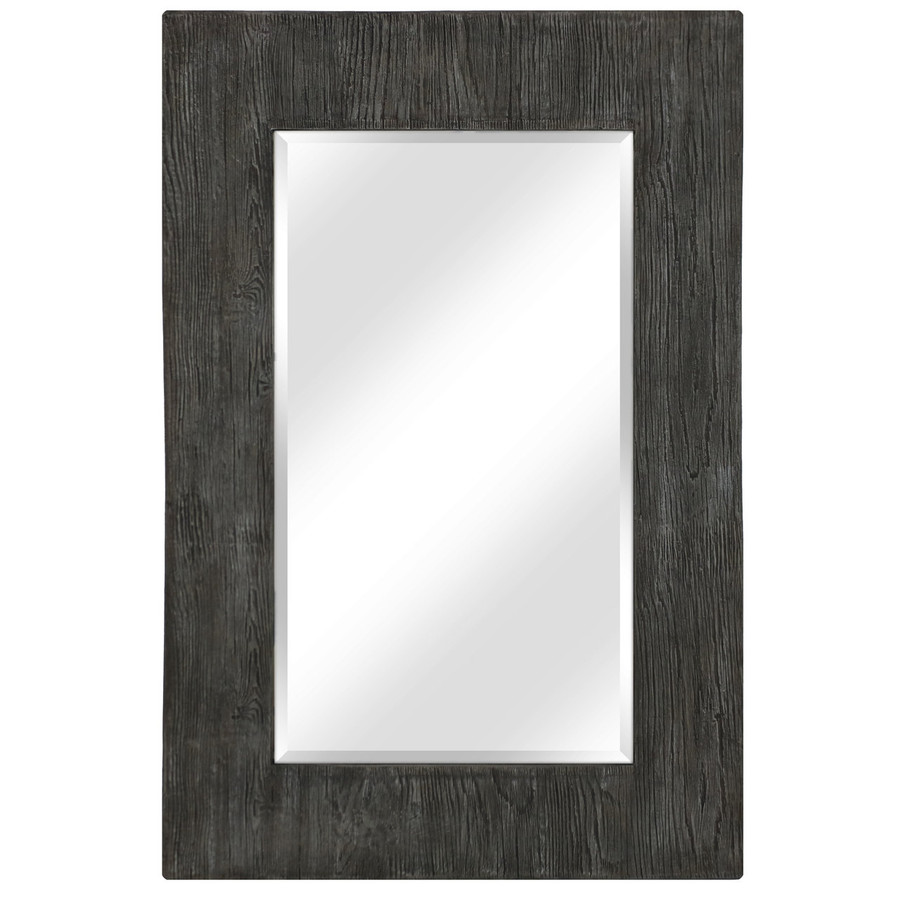 Large Rectangular Wall Mirror with Decorative Concrete/Resin Frame