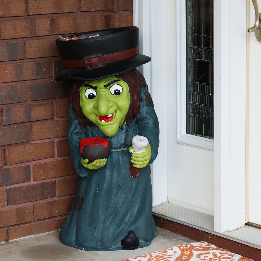 Gwendolyn the Evil Witch Halloween Large Statue, Outdoors