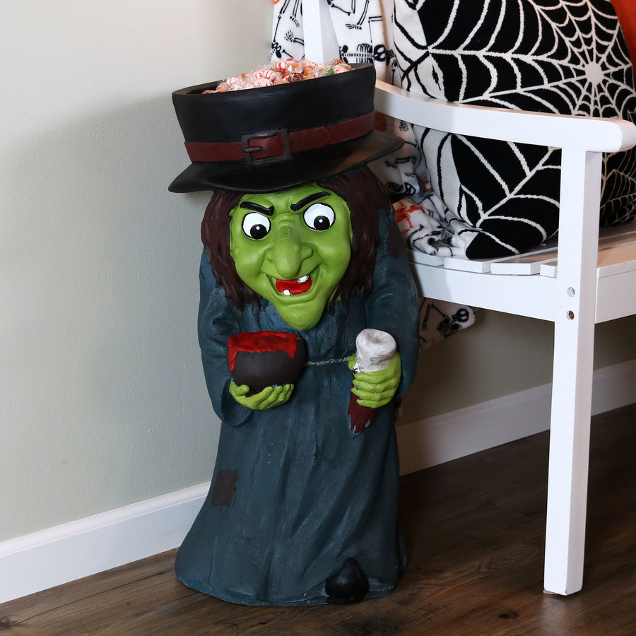 Gwendolyn the Evil Witch Halloween Large Statue, Indoors