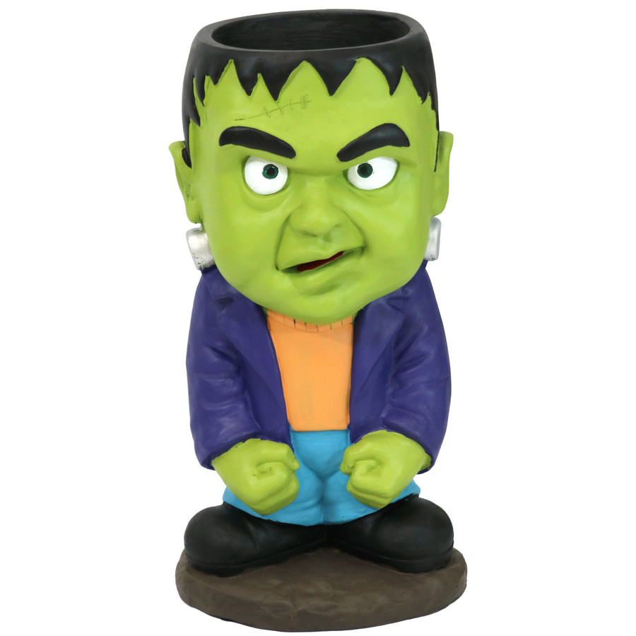 Frankenstein Halloween Large Statue with Built-In Candy Bowl