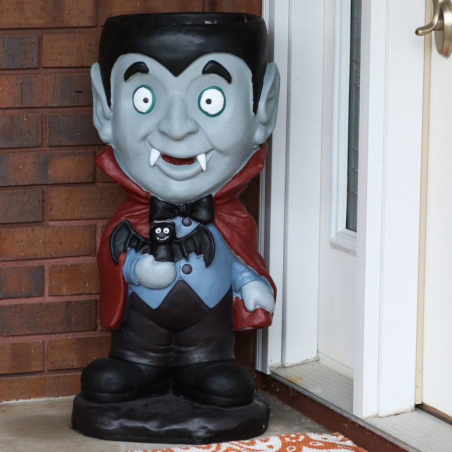 Count Dracula Vampire Halloween Large Statue with Built-In Candy Bowl, Outdoors