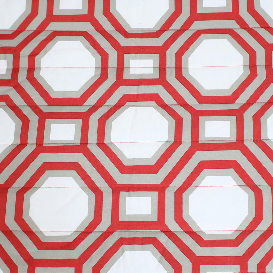 Red and Gray Octagon