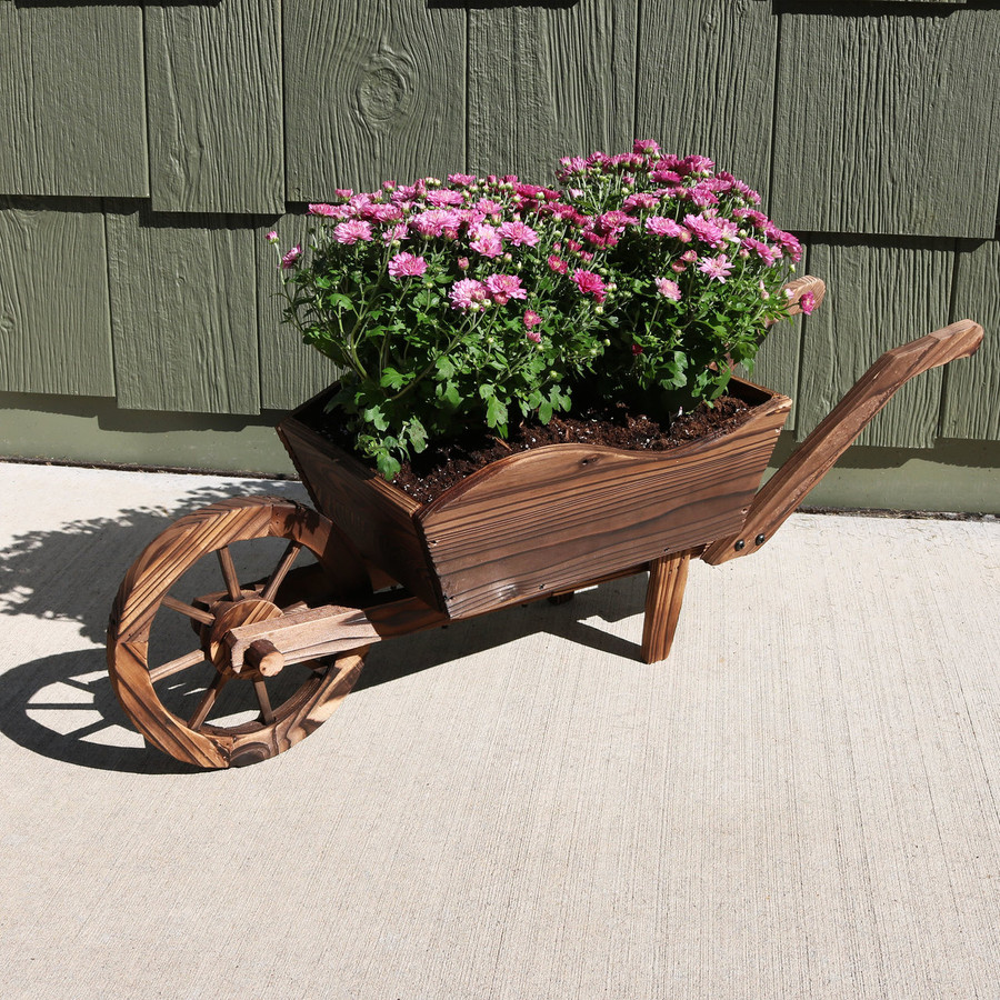 Wheelbarrow Planter with Flowers