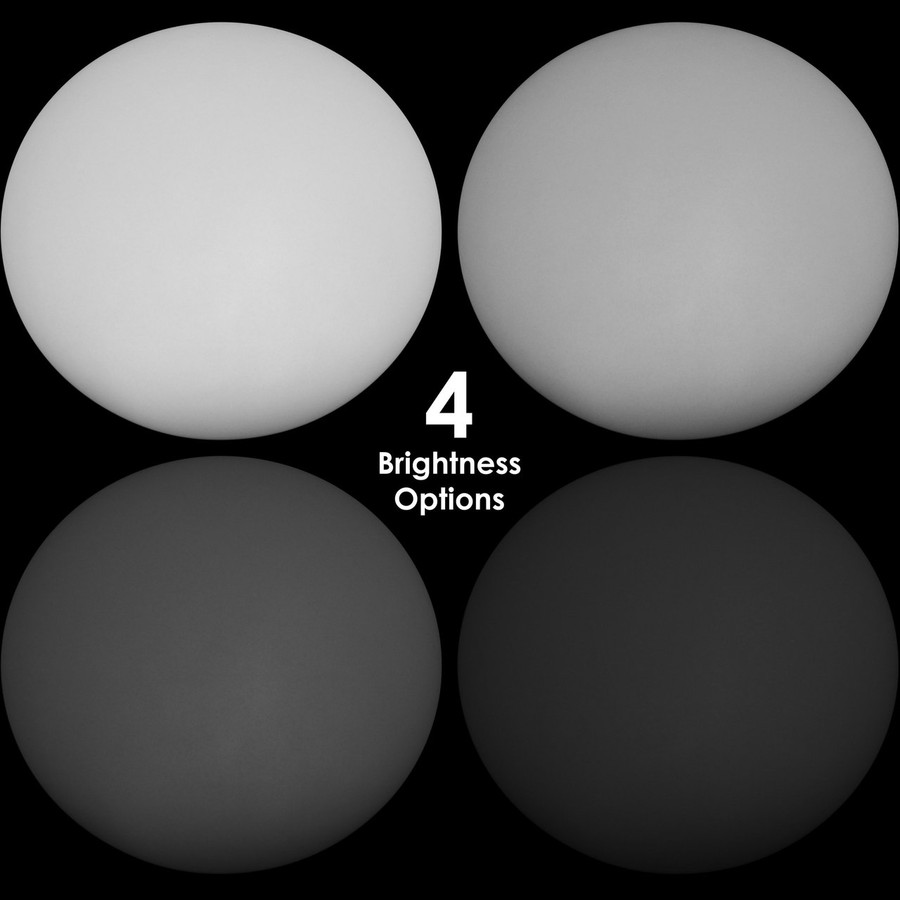 4 Brightness Options