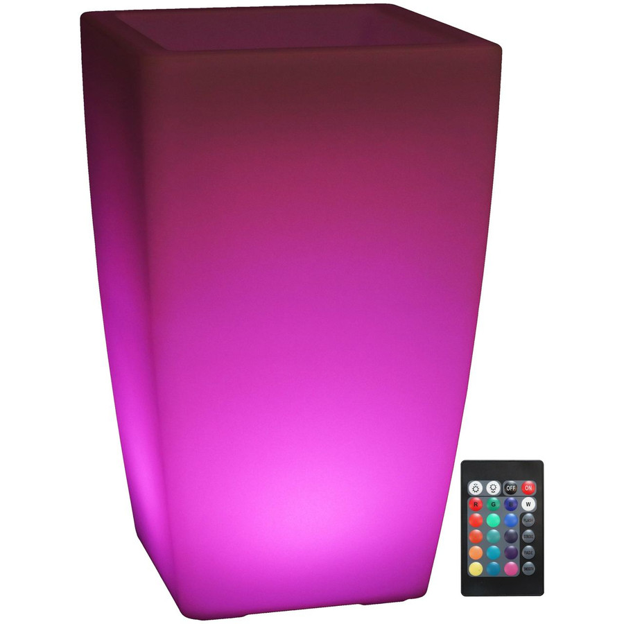 LED Square Flower Pot with Remote Control