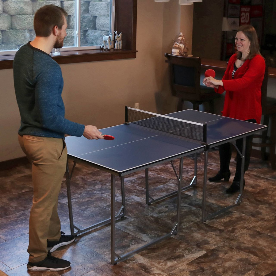 Compact Folding Table Tennis Table, Fully Assembled