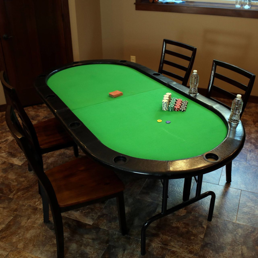 Folding Oval Poker Table