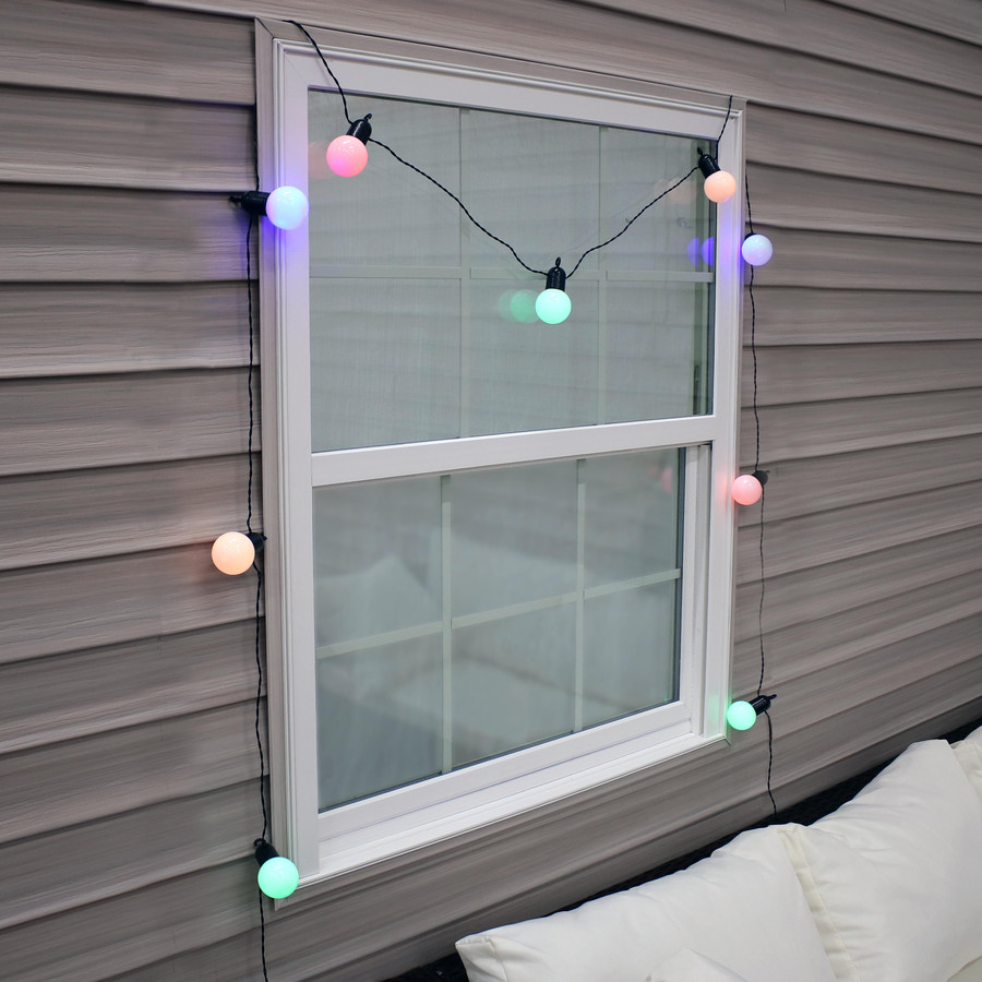 Indoor/Outdoor LED String Lights with 20 Globe Bulbs